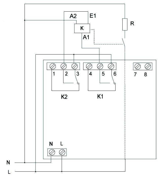 Рис.3 Схема включения с