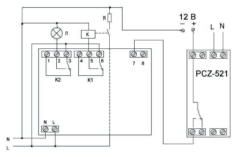 Рис.6 Схема включения со